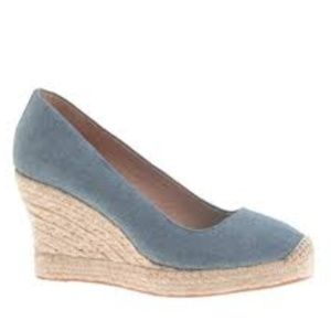 J. Crew Seville Chambray Espadrilles Wedges